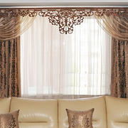 欧式蕾丝边窗帘设计
