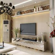 欧式简约风格影视墙设计