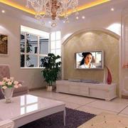 欧式拱形灯饰背景墙设计