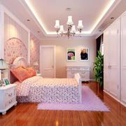 卧室粉色背景墙装饰