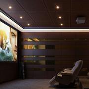 简约风格地下室电影院设计