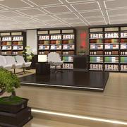大型书店休息椅装饰