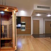 原木材料可移动汗蒸房设计