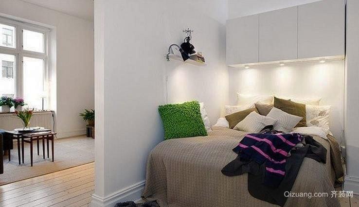 现代都市单身公寓小卧室装修效果图大全