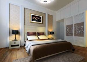 新中式风格小卧室装修效果图
