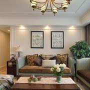美式客厅茶几设计