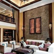 别墅大客厅沙发设计
