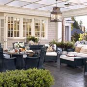 美式休闲阳台桌椅设计
