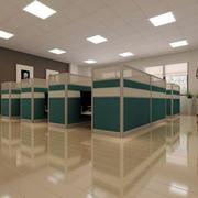 现代简约风格办公桌隔断设计
