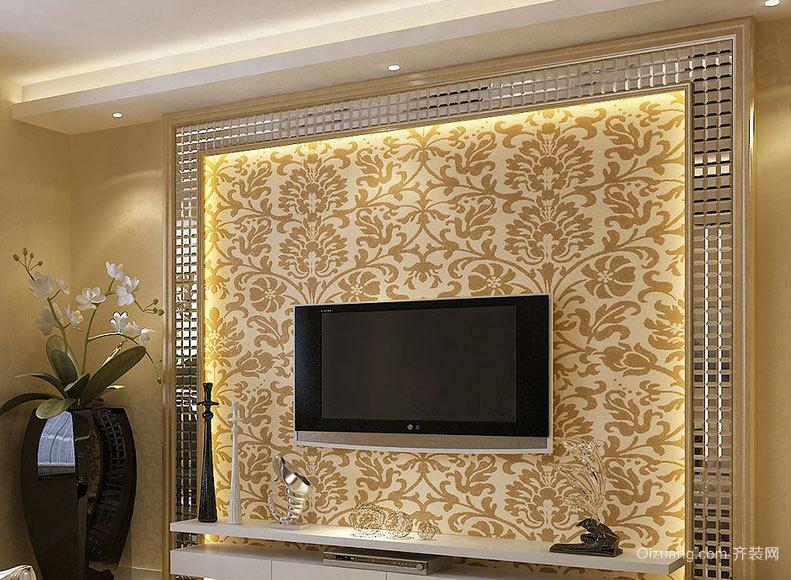 品味完美:大户型欧式客厅电视背景墙效果图案例欣赏