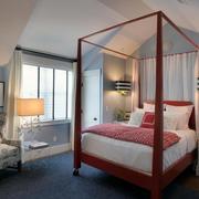 美式斜顶卧室简约吊顶