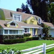 美式原木别墅外观造型