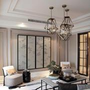 三室两厅创意吊顶灯饰效果图