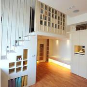 跃层现代简约风格楼梯图示