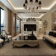 欧式大型客厅飘窗设计