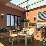 别墅花园桌椅装修