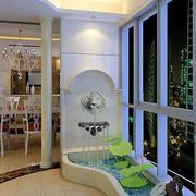 白色室内入户花园设计