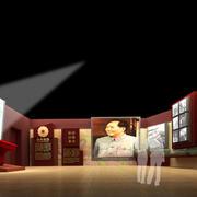 中式风格展厅效果图