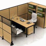 整体型办公室原木隔断