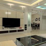 现代简约石膏板电视墙