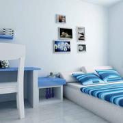 简约风格蓝色卧室设计