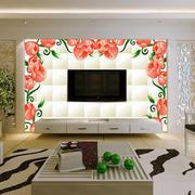 简约风格印花电视墙