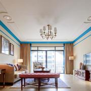 现代简约风格客厅吊顶装修设计