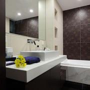 卫生间洗漱池瓷砖装修