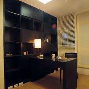 黑色经典书房橱柜