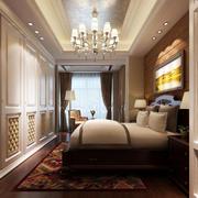 欧式卧室简约背景墙装修