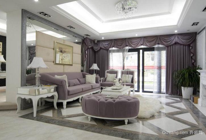 亮如明镜的客厅地砖装修效果贴图