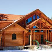 原木色别墅外观设计