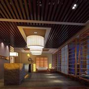 美容院木制吊顶设计