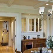 欧式简约风格餐厅圆桌设计