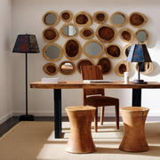 书房书桌背景墙设计