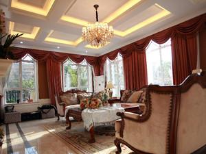 宫殿般的设计:欧式经典奢华客厅吊顶装修效果图
