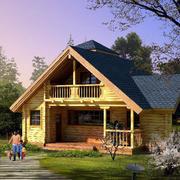 浅黄色别墅外观设计
