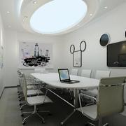 现代圆形会议室吊顶设计