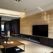 原木材料电视背景墙设计