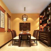 中式原木桌椅装饰