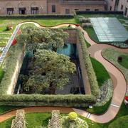 别墅环形花园设计