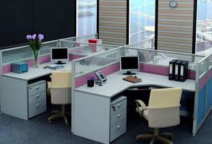 现代都市流行的办公屏风隔断装修效果图展示