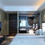 酒店卧室电视背景墙装修