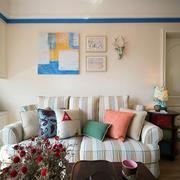 混搭风格客厅沙发背景墙设计