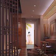 美容院简约风格吊顶设计