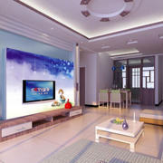 现代简约风格电视墙