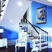 简约白色楼梯装修设计