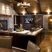 客厅L型沙发装修