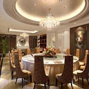 餐厅圆形吊顶设计