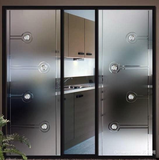 120平米三居室厨房移门设计装修效果图一览